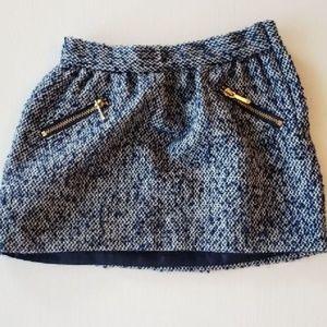 Janie & Jack Tweed Baby Girl Navy Skirt